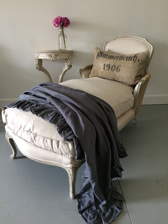 Vintage French Country Chaise Lounge By Fullbloomcottage On Etsy