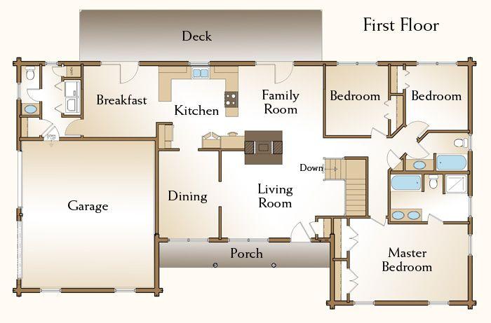 Charmant Custom Designed Log Home Floor Plans. Log Cabin Dream Homes.