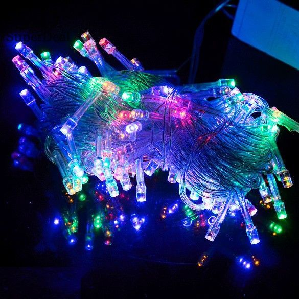 10M100 LED Colorful Lights Decorative Christmas Party Festival Twile