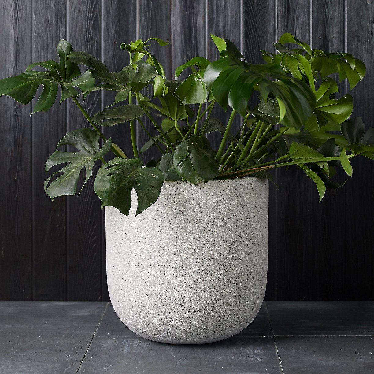 Concrete Rectangular Vase White Planter h.50 Handmade