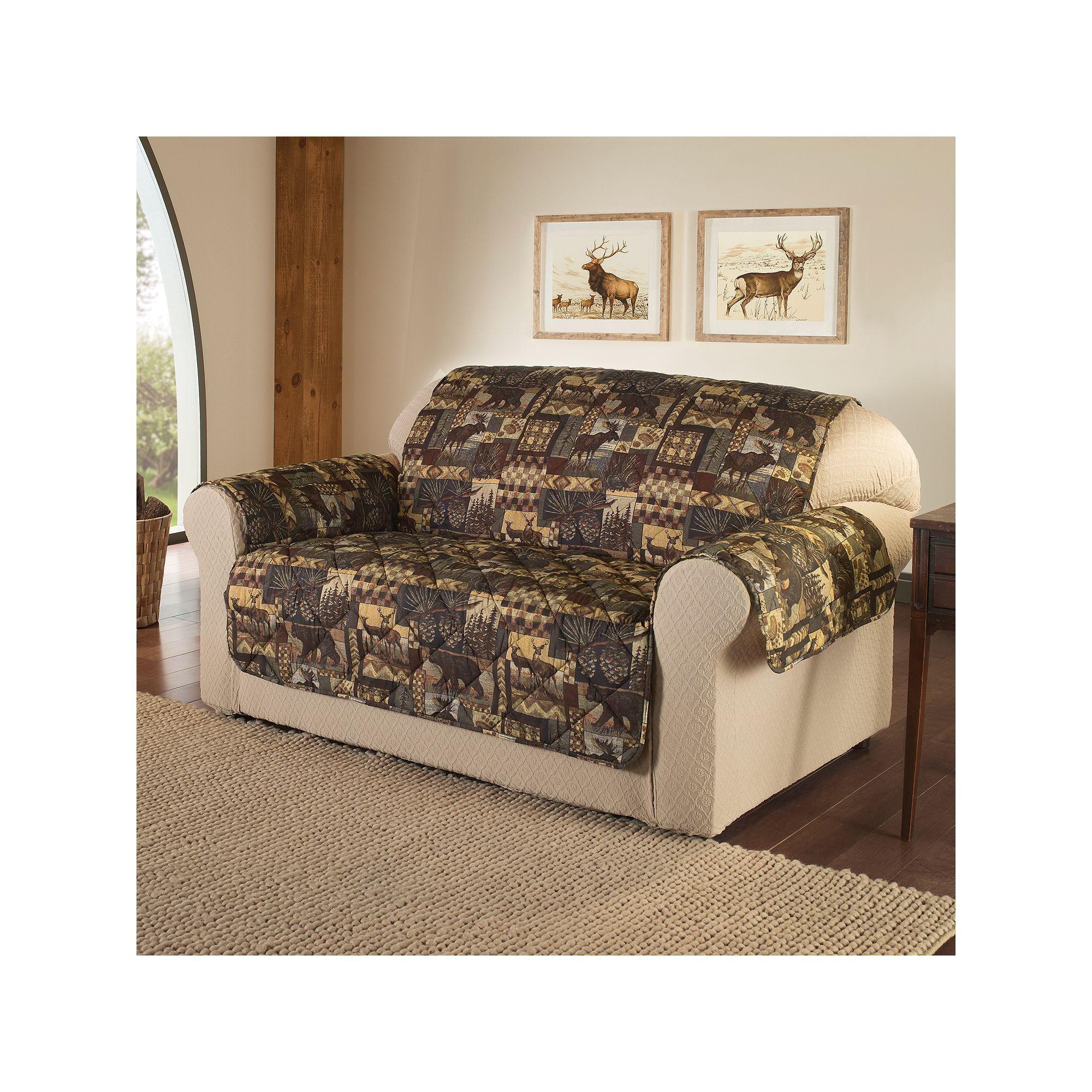 Outstanding Jeffrey Home Lodge Microfiber Loveseat Protector Products Creativecarmelina Interior Chair Design Creativecarmelinacom