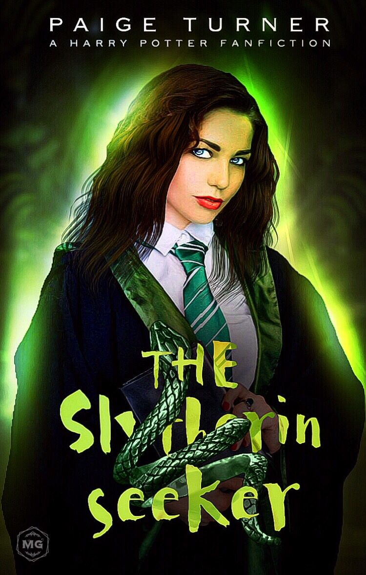 The Slytherin Seeker Harry Potter Fanfiction Cover Harry Potter Wattpad Covers