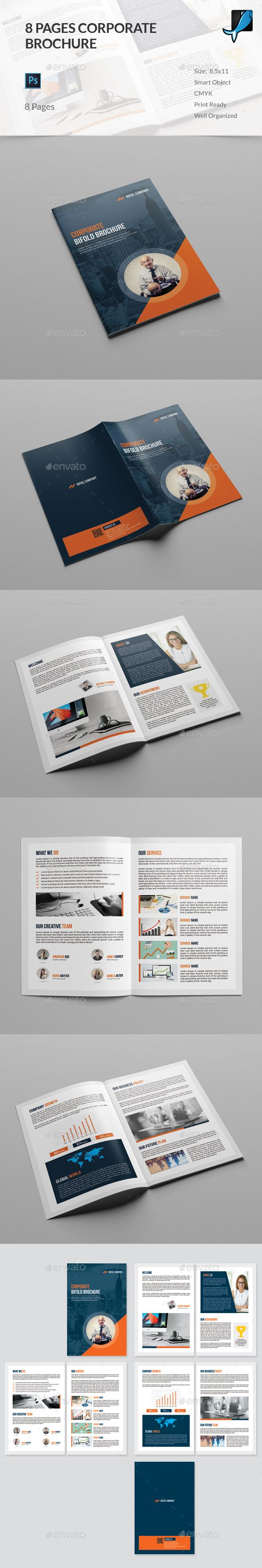 Page Brochure Photoshop PSD Brochure Template Template - 8 page brochure template