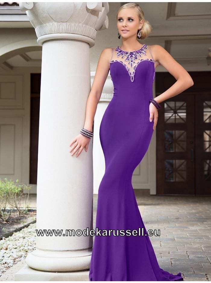 Figurbetontes Etui Abendkleid in Lila   Abendkleid ...