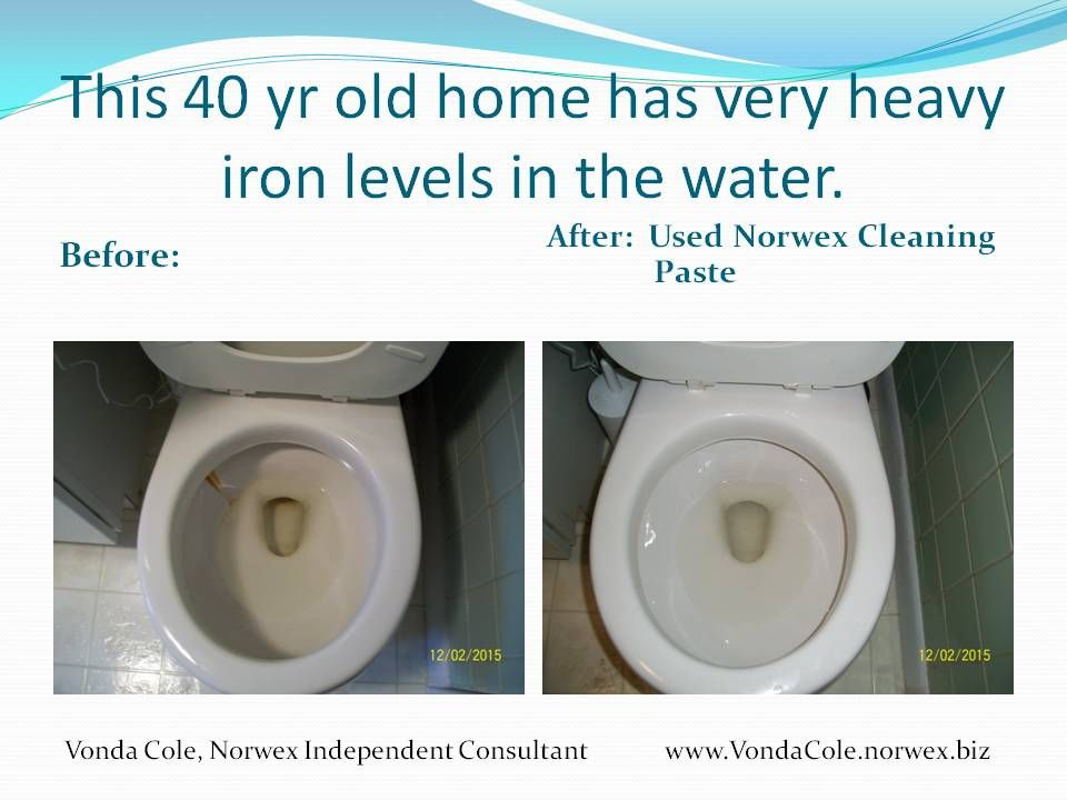 To clean hard water rings in a toilet with #CleaningPaste or the ...
