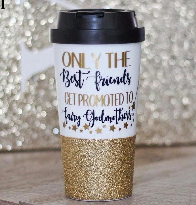 Only The Best Friends Get Promoted To Fairy Godmother Travel Mug