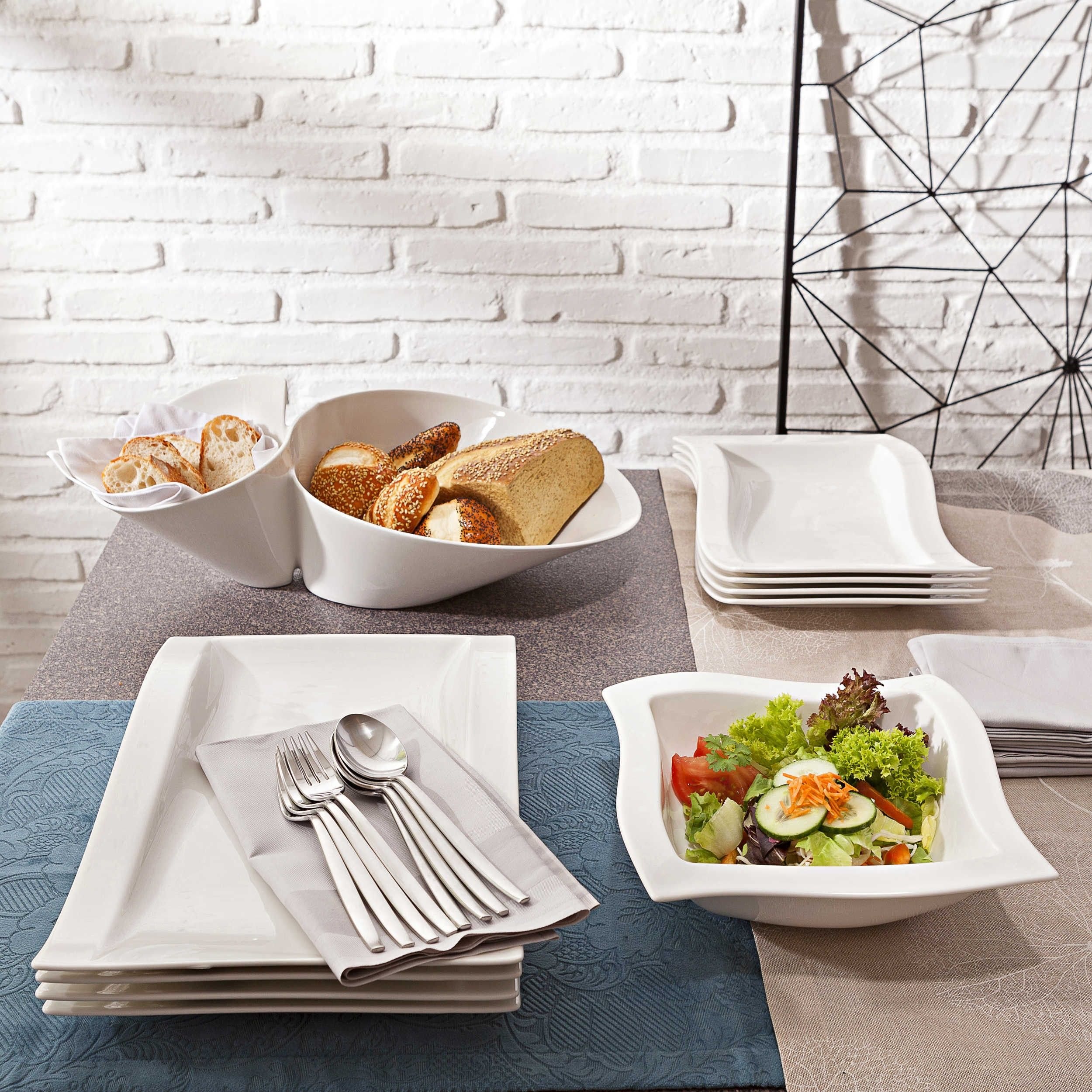 Villeroy Boch Gourmetteller New Wave 37 X 25 Cm Platten Schusseln Geschirr Haushalt Schones Geschirr Essen Schussel