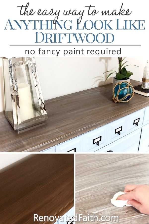 Photo of Three Easy Steps to a DIY Driftwood Finish on Any Surface