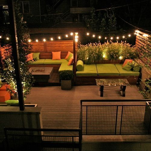 Outdoor Lights String Wicker