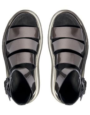 fa12a949add1 Dr Martens Pewter Shore Clarissa Chunky Strap Sandals