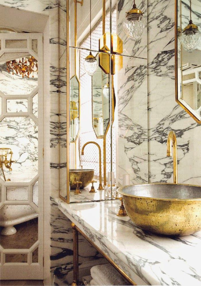 Image result for glamorous marble bathroom
