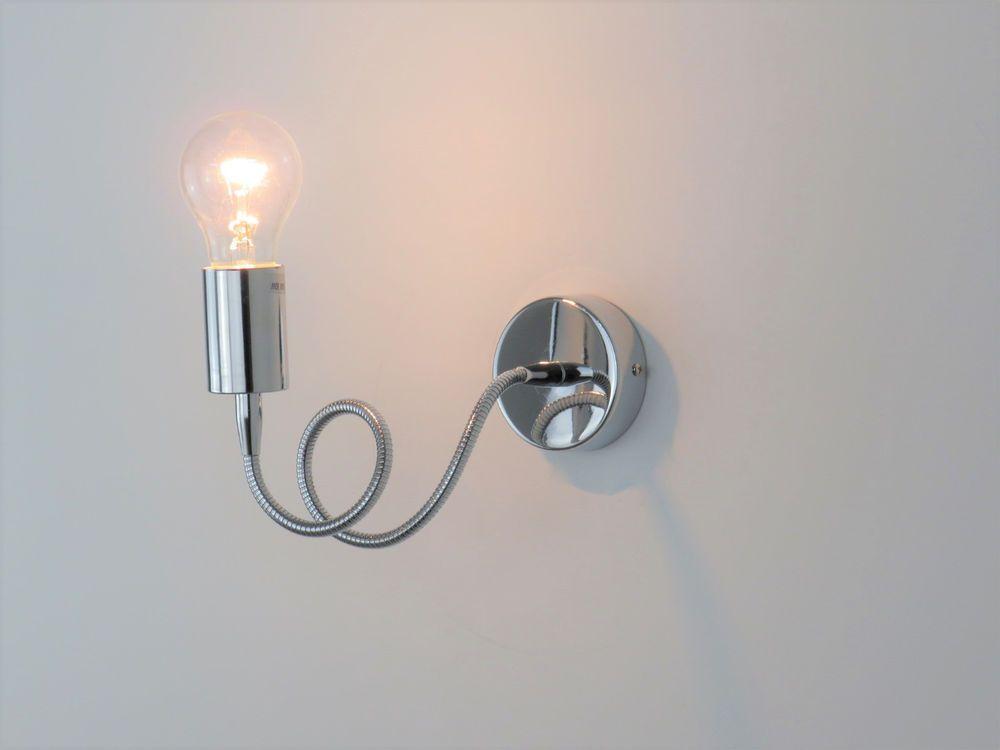 Lampade Da Specchio Per Bagno.Applique Parete Specchio Bagno Moderno Cromo Acciaio Lampada