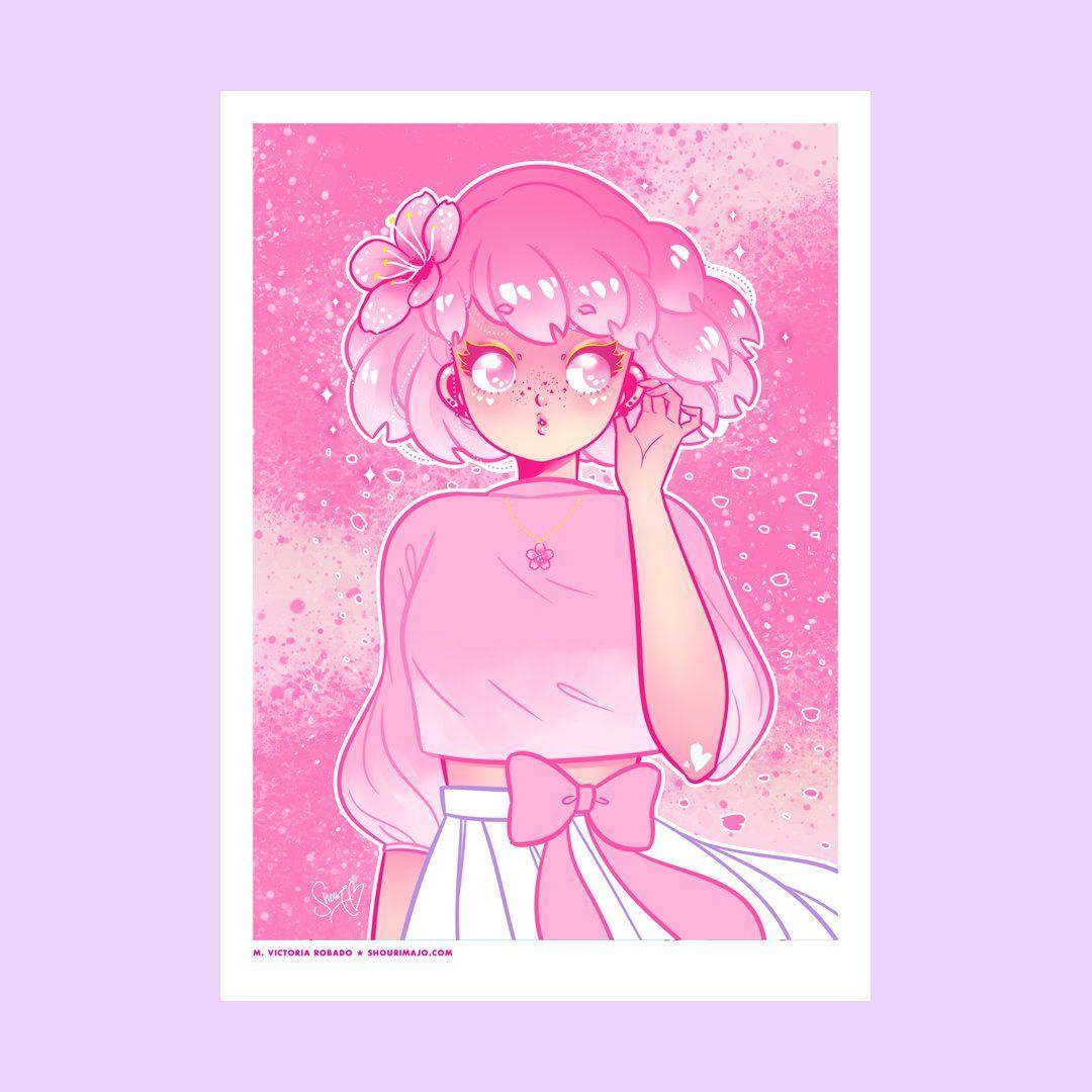 Photo of Cherry Blossom Art Print (Signed) – 5×7