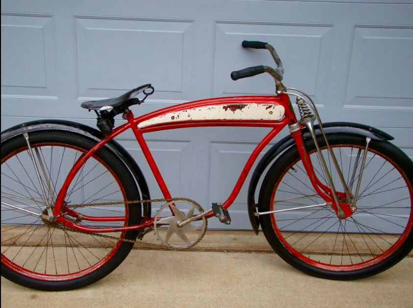 Late 40s Hawthorne Bicycle With A Rollfast Springer Front End