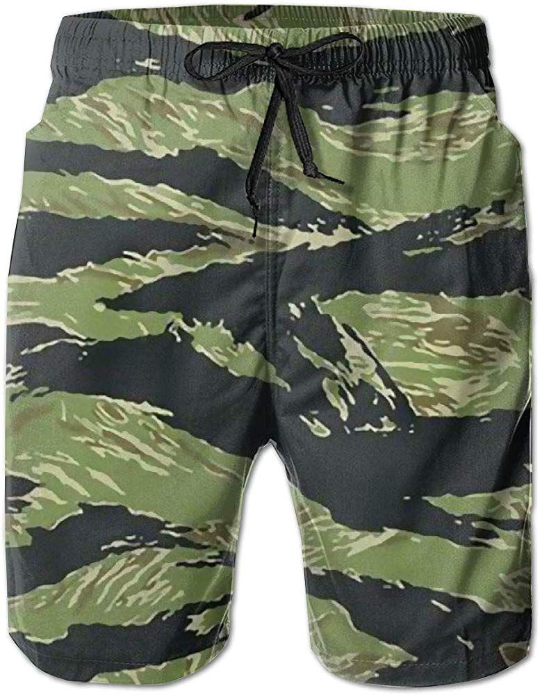 Marine Corps Military Flag Man Summer Casual Shorts,Beach Shorts Swim Trunks U.S