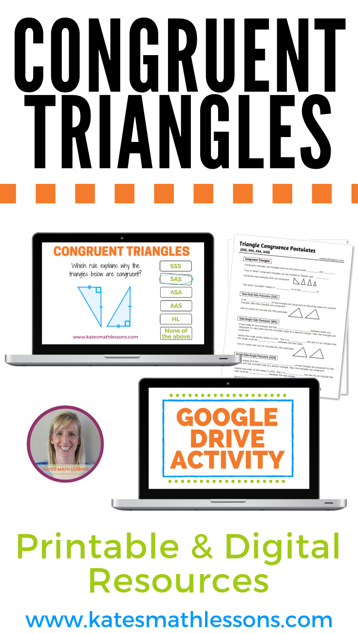 Congruent Triangles Bundle (Study Guide, Group Activity