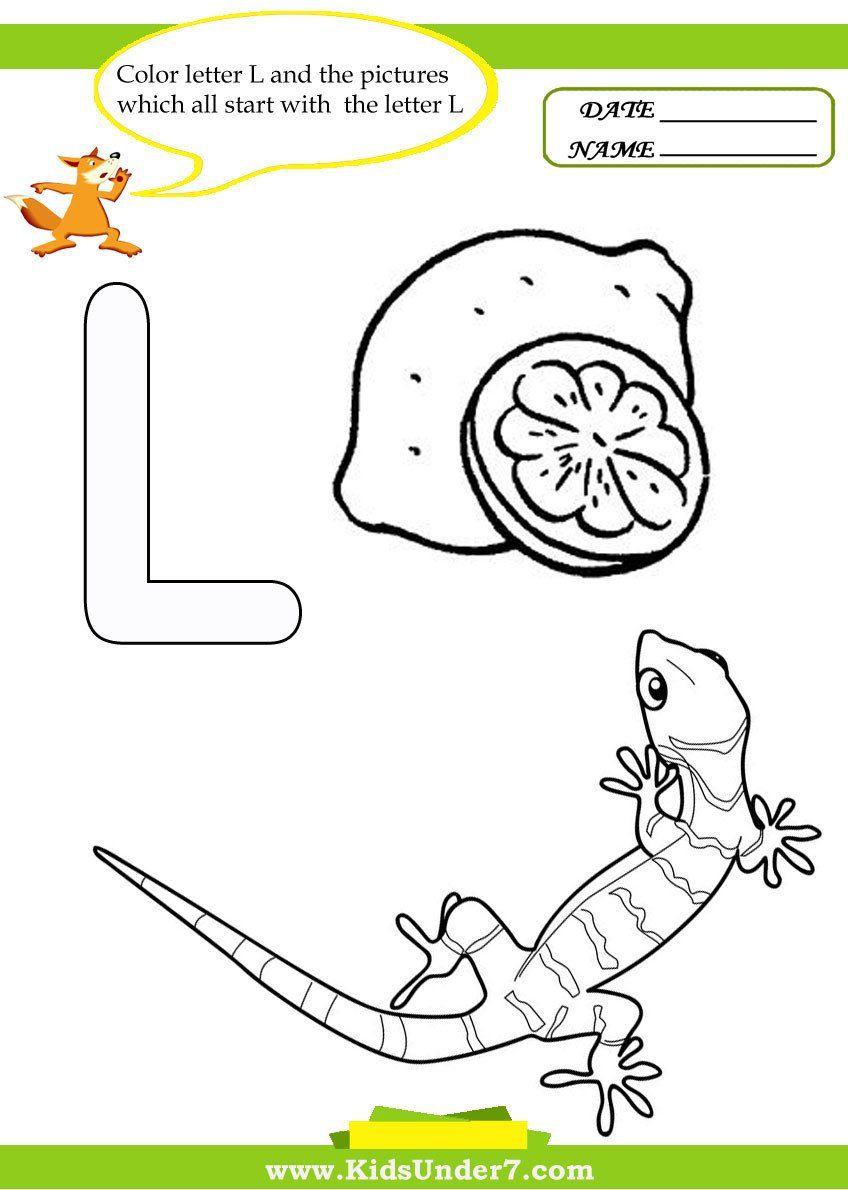 Letter L Preschool Worksheets Kids Under 7 Letter L Worksheets And Coloring Pages In 2020 Letter Worksheets For Preschool Letter L Worksheets Letter N Worksheet