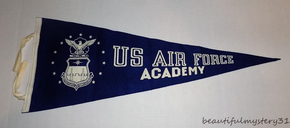 Usaf United States Air Force Academy Vtg 50s 60s Navy Blue Felt 29 Pennant Flag United States Air Force Academy Air Force Academy Usaf