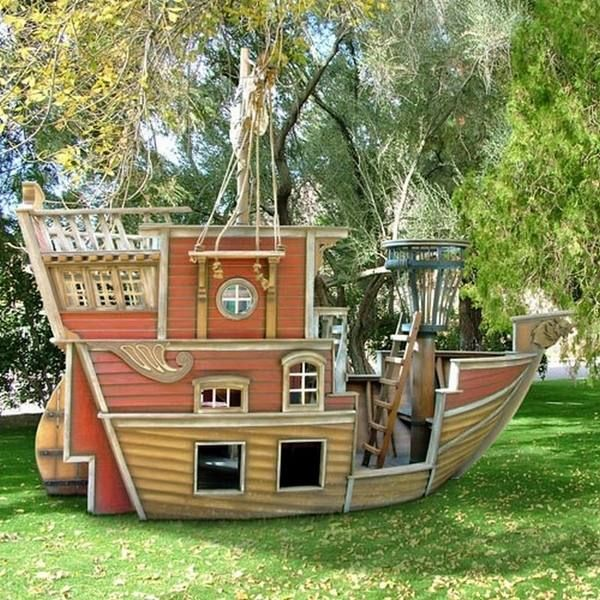 Garden Playhouse Decorating Ideas : Pallet playhouse ideas kids playground garden decor