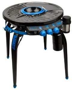 Amazon.com: Blacktop 360 HFI Premium Party Hub Grill/Fryer, Black/Blue: Patio, Lawn & Garden