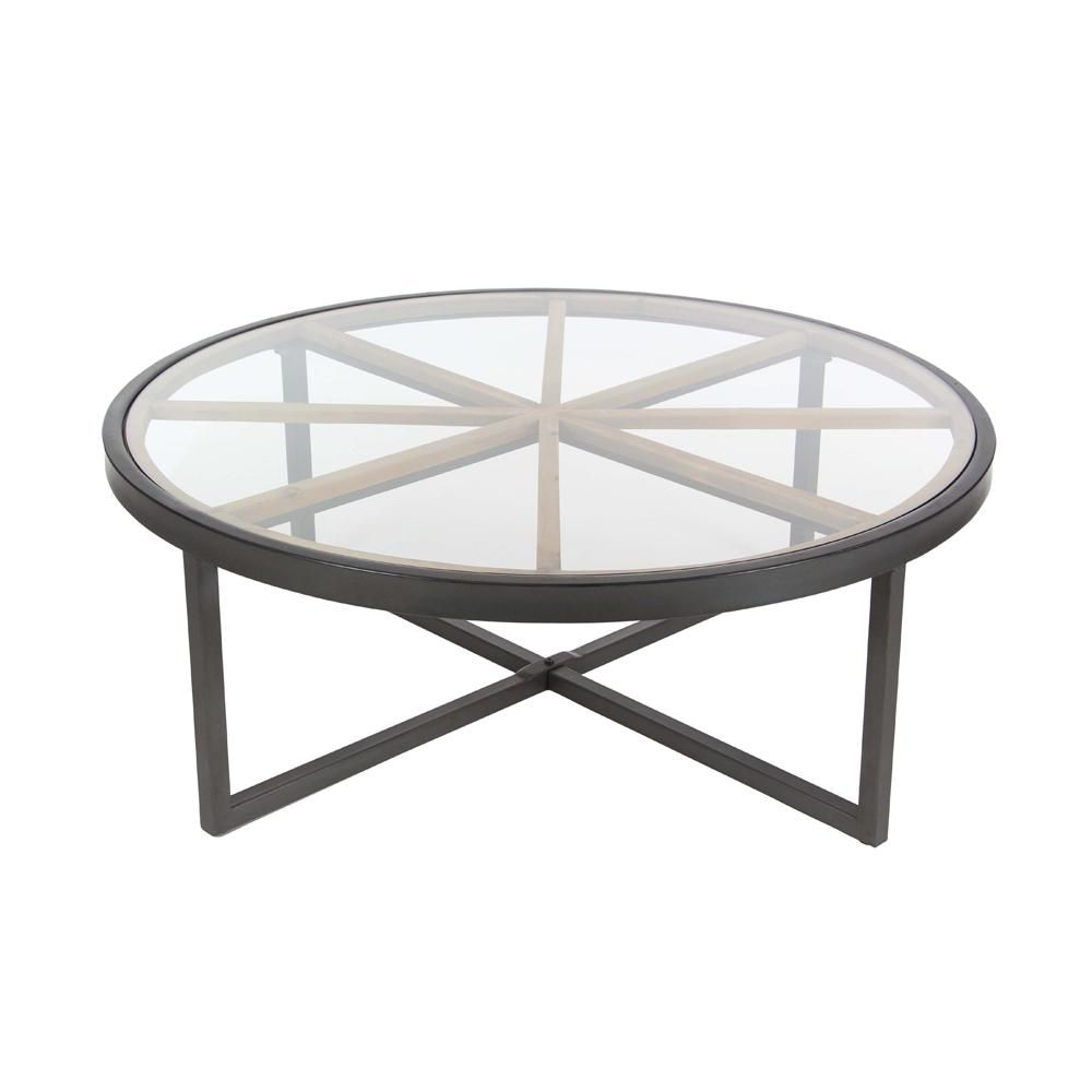 Litton Lane Modern 47 In Iron And Glass Coffee Table 44399 The Home Depot Coffee Table Glass Wood Coffee Table Cheap Coffee Table [ 1000 x 1000 Pixel ]