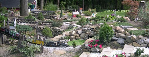 1000 images about Garden Model Trains on Pinterest Gardens