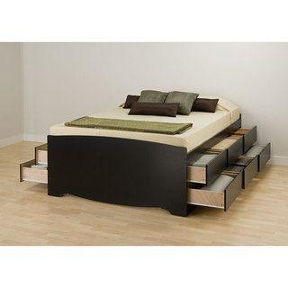Queen Platform Bed Frame With Storage Nntudit