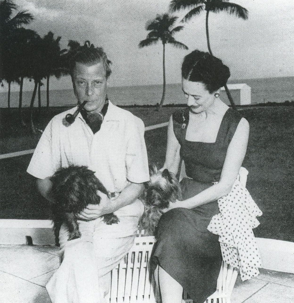 Duke & Duchess of Windsor-Palm Beach Yet even when she accepted an invitation to stay at the Belvedere Fort for a week without Ernest, she still believed she could string both men along.