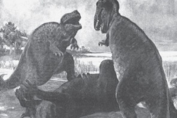 Fighting Tyrannosaurs and Natural History, from 1915 - Scientific American
