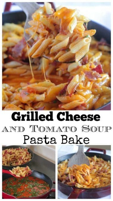 Grilled Cheese and Tomato Soup Pasta Bake Grilled Cheese and Tomato Soup Pasta Bake!  Perfect weeknight dinner idea!