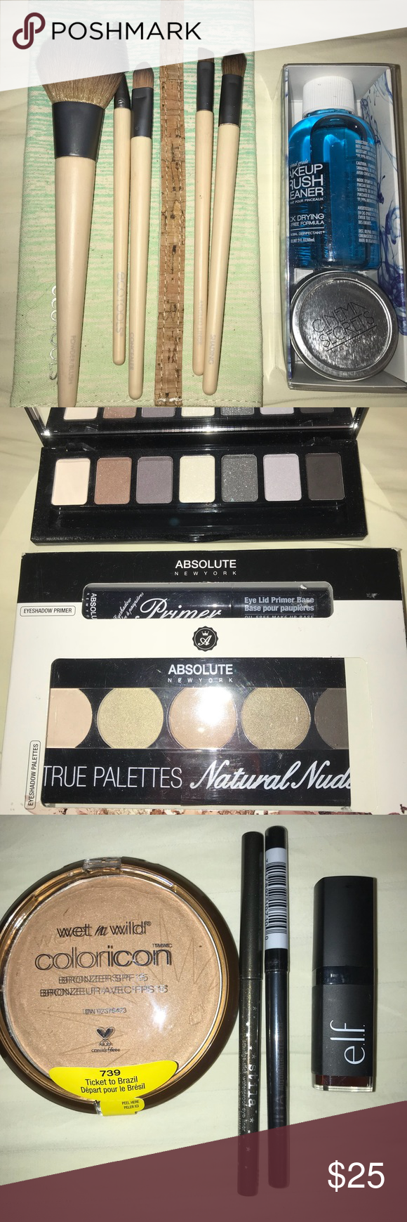 BRAND NEW Makeup and Brushes Bundle!!! NWT Berry