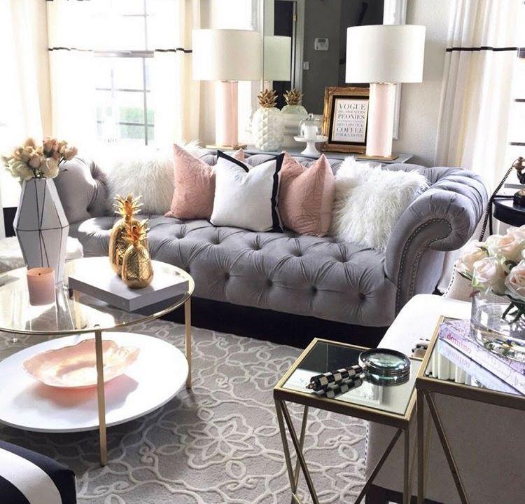 Pleasant Rose Gold Accessories Instead In 2019 Glam Living Room Creativecarmelina Interior Chair Design Creativecarmelinacom