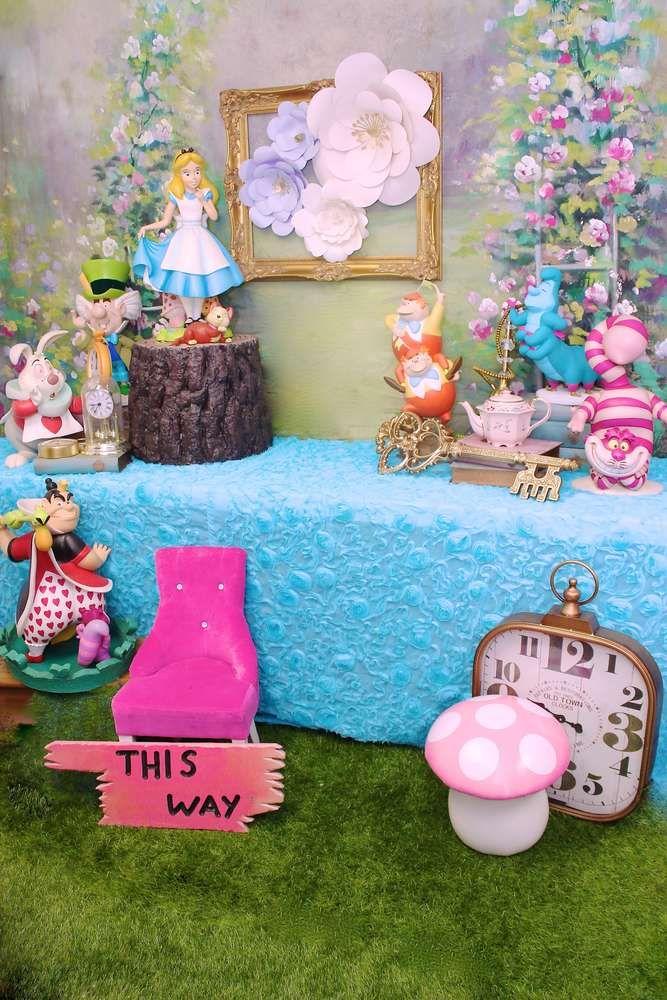 Alice In Wonderland Birthday Party Ideas In 2020 Alice In