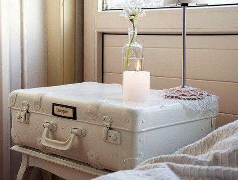 maletas vintage para decorar el bao
