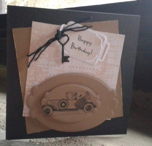 Handmade personalised birthday card vintage car dad brother handmade personalised birthday card vintage car dad brother uncle husband bookmarktalkfo Image collections