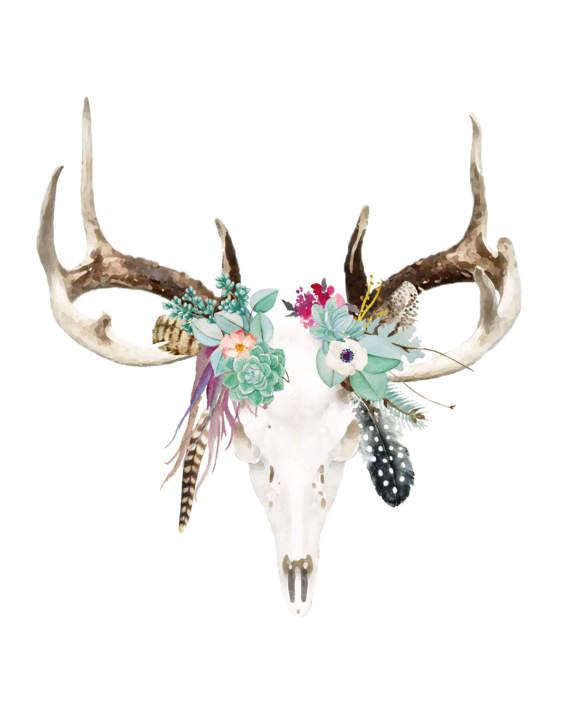 a2bcb58cc Bohemian Deer Skull in 2019 | Products | Deer skulls, Deer skull ...