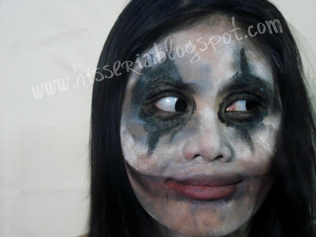 scary Halloween makeup | Halloween makeup:Messy evil clown makeup ...