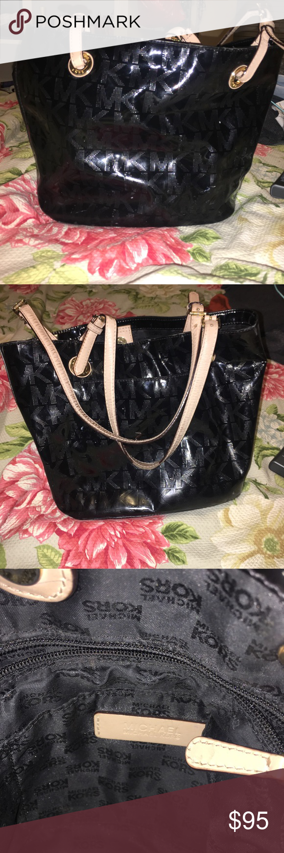 Micheal Kors purse 100% authentic , a few minor flaws as pictured. Still in good condition. Reasonable offers accepted. Michael Kors Bags Shoulder Bags