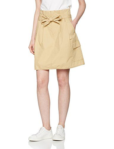 Benetton Skirt Gonna Belted United Donna Of Colors Beige 8 Cargo qFnnAHx