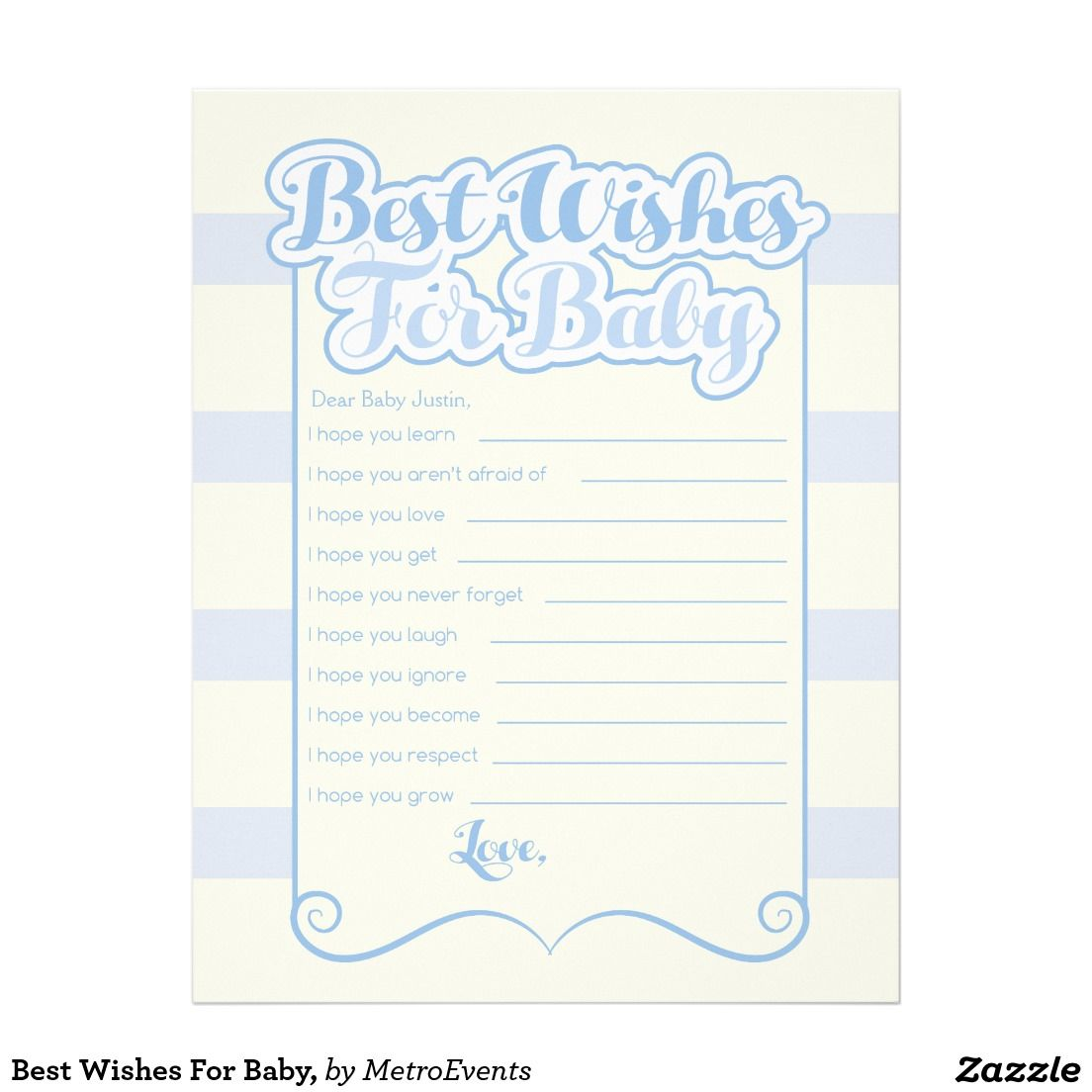 best wishes for baby letterhead