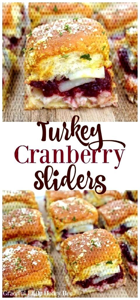 Turkey Cranberry Sliders If youre wondering how to make soft and chewy sugar co... Turkey Cranberr