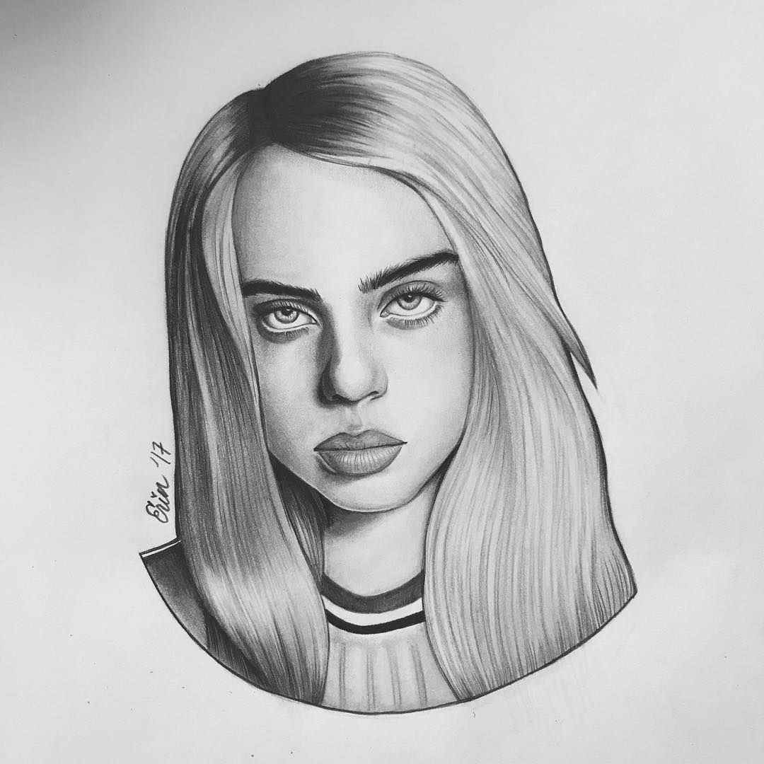 Art Belongs To Erin Lg On Instagram Wherearetheavocados Celebrity Drawings Billie Eilish Art