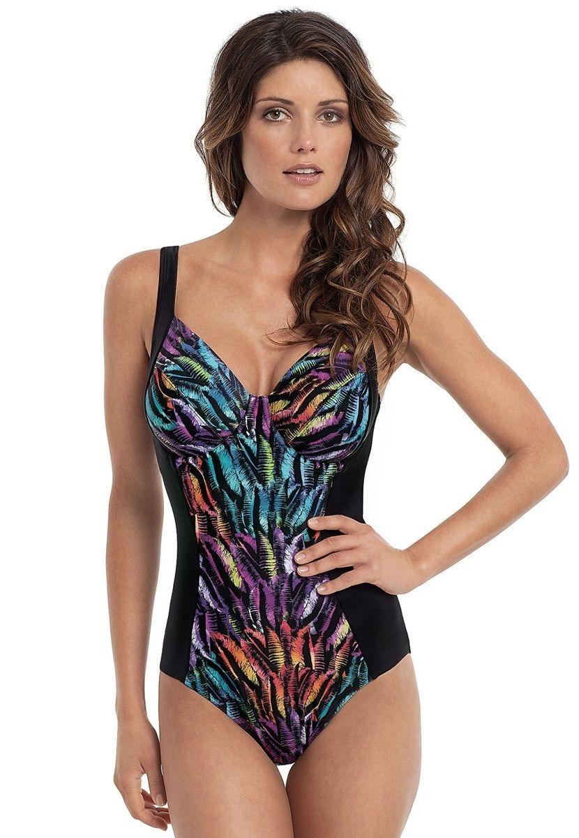 8ef1fdebe9898a Tallulah Feather Print Swimsuit (SW0740) by Panache available in Mambra /  Jednoczęściowy kostium Tallulah Feather Print od Panache z wbudowanym  biustonoszem ...
