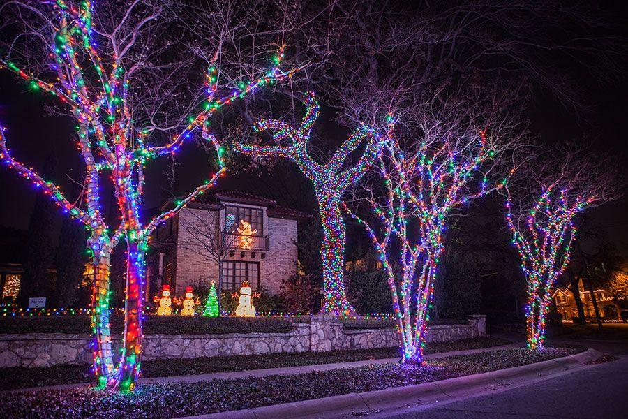Multi Color Christmas Lighting For Tree