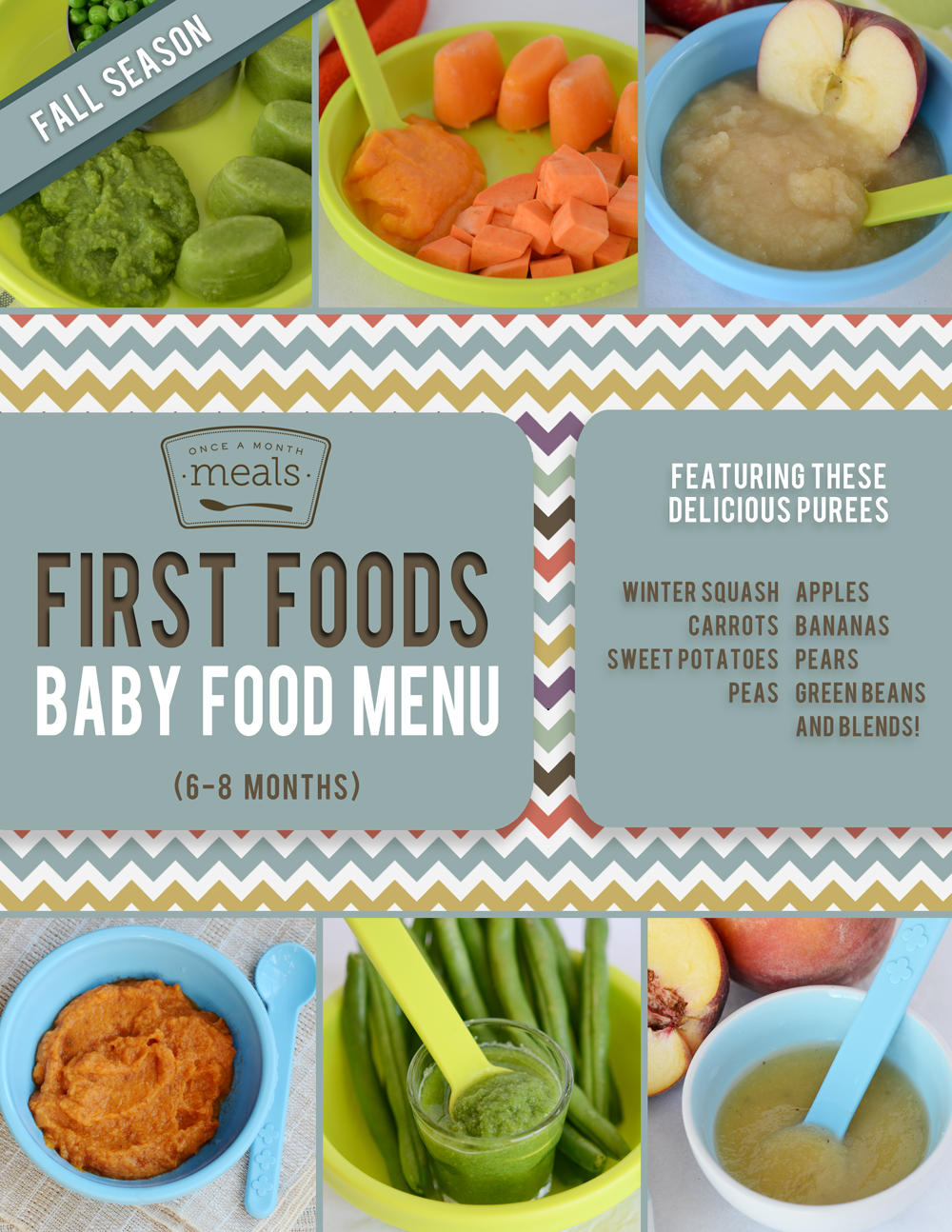 First Foods (69+ Month) Fall Baby Food Meal Plan Baby