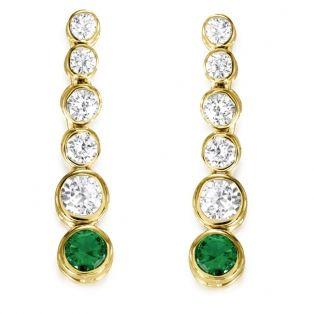Truly Classic  Tru-Emerald Drop Earrings 18ct Gold clad
