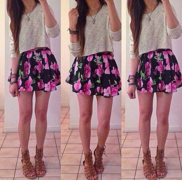 Summer outfits for teenage girls with skirts