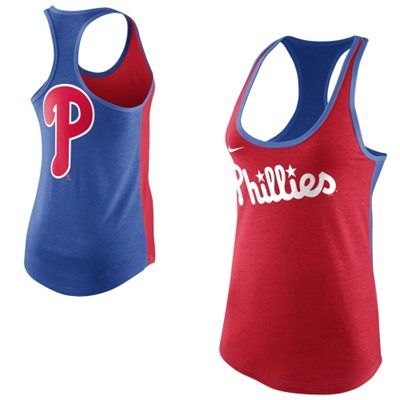 Nike Philadelphia Phillies Women S Tri Blend Loose Fit Racerback Tank Cleveland Indians Clothing Athletic Tank Tops Sports Attire