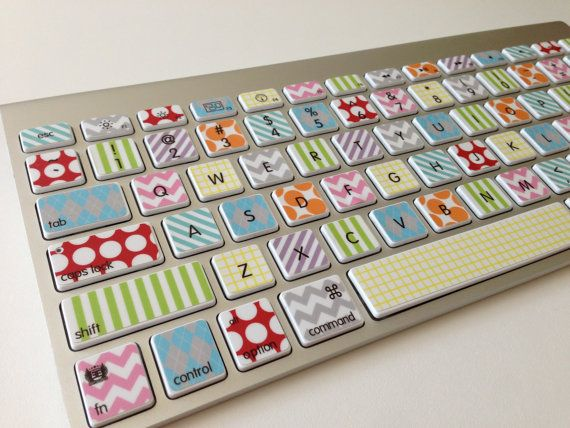 Washi Tape Inspired Keyboard Skin Cover For Imac Or Macbook Pro