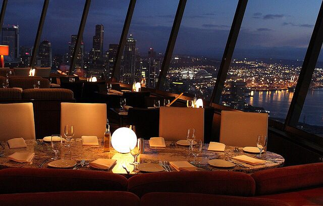 Have a reservation here at Sky City in the Space Needle goodHave a reservation here at Sky City in the Space Needle good  . Dinner Seattle Space Needle. Home Design Ideas